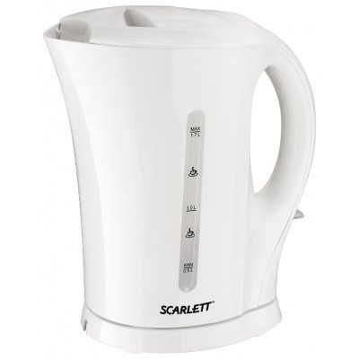 Электрический чайник Scarlett SC-EK14E05 (SC-EK14E05)Электрические чайники Scarlett<br>чайник<br>объем 1.7 л<br>мощность 2200 Вт<br>открытая спираль<br>жесткая фиксация на подставке<br>пластиковый корпус<br>индикация включения<br>вес 1.07 кг<br>