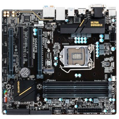 Материнская плата ПК Gigabyte GA-Z170M-D3H (GA-Z170M-D3H)Материнские платы ПК Gigabyte<br>Gigabyte GA-Z170M-D3H (Socket 1151, intel Z170, 4*DDR4 3466, VGA, DVI, HDMI, PCI-Ex16, 2*PCI, Gb Lan, Audio, USB 3.0, RAID, SATA 3.0, mATX)<br>