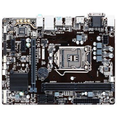 Материнская плата ПК Gigabyte GA-H110M-S2H (GA-H110M-S2H) материнская плата gigabyte ga h81m s2v socket 1150 h81 2xddr3 2xsata3 1xpci ex16 2xusb3 0 glan matx
