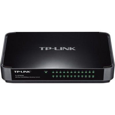 Коммутатор TP-link TL-SF1024M (TL-SF1024M)Коммутаторы TP-link<br>TP-Link 24-портовый 10/100 Мбит/с настольный коммутатор<br>