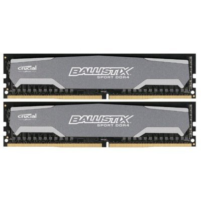 Модуль оперативной памяти ПК Crucial BLS2C8G4D240FSA 16Gb DDR4 (BLS2C8G4D240FSA)Модули оперативной памяти ПК Crucial<br>Crucial 16GB Kit (8GBx2) DDR4 2400 MT/s (PC4-19200) CL16 DR x8 Unbuffered DIMM 288pin Ballistix Sport<br>