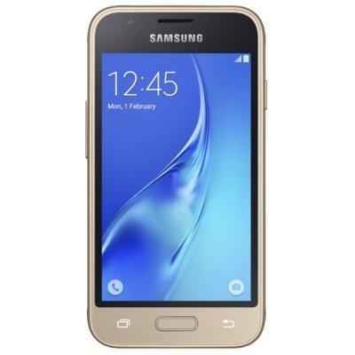 Смартфон Samsung Galaxy J1 mini (2016) золотой (SM-J105HZDDSER)Смартфоны Samsung<br>золотистый<br>