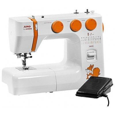 Швейная машина Janome 5025S белый (JUNO BY JANOME 5025S) швейная машина janome dresscode белый