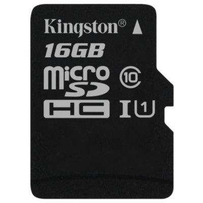 Карта памяти Kingston 16GB microSDHC Class 10 SDC10G2/16GBSP (SDC10G2/16GBSP) kingston microsdhc class 16 4gb sdc4 16gb карта памяти с адаптером black