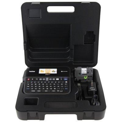 Принтер этикеток Brother P-touch PT-D600VP стационарный черный/серый (PTD600VPR1)Принтеры этикеток Brother<br>Принтер Brother P-touch PT-D600VP стационарный черный/серый<br>