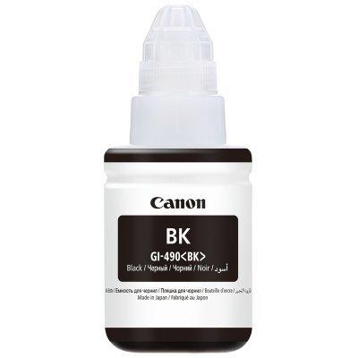 Картридж для струйных аппаратов Canon GI-490BK черный (0663C001)Картриджи для струйных аппаратов Canon<br>Картридж струйный Canon GI-490BK 0663C001 черный для Canon Pixma G1400/2400/3400 (135мл)<br>
