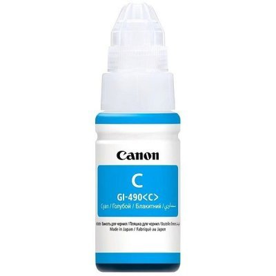 Картридж для струйных аппаратов Canon GI-490C голубой (0664C001) чернила canon gi 490c 0664c001
