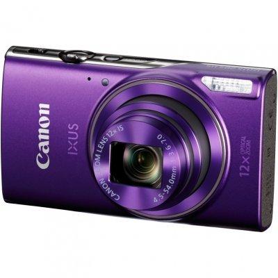 Цифровая фотокамера Canon IXUS 285 HS фиолетовый (1082C001)Цифровые фотокамеры Canon<br>IXUS 285 HS фиолетовый, 20Mpx CMOS, zoom 12x, оптическая стаб., 1920x1080, экран 3.0&amp;amp;#039;&amp;amp;#039;, Wi-fi и NFC, GPS через смартфон, Li-ion<br>