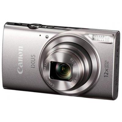 Цифровая фотокамера Canon IXUS 285 HS серебристый (1079C001)Цифровые фотокамеры Canon<br>компактная фотокамера<br>матрица 21.1 МП (1/2.3)<br>съемка видео Full HD<br>оптический зум 12x<br>экран 3<br>Wi-Fi<br>вес с элементами питания 147 г<br>режим макросъемки<br>