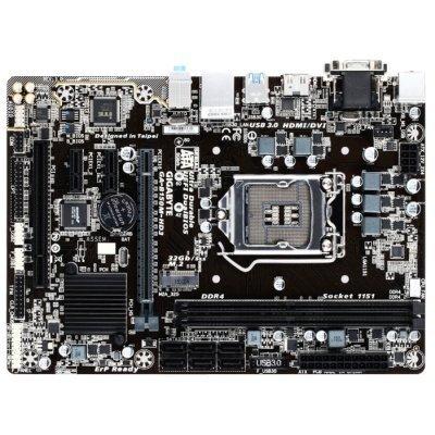 Материнская плата ПК Gigabyte GA-B150M-HD3 (GA-B150M-HD3)Материнские платы ПК Gigabyte<br>Gigabyte GA-B150M-HD3 (Socket 1151, intel B150, 2*DDR4, VGA, DVI, HDMI, PCI-Ex16, PCI, Gb Lan, Audio, USB 3.0, SATA 3.0, mATX)<br>