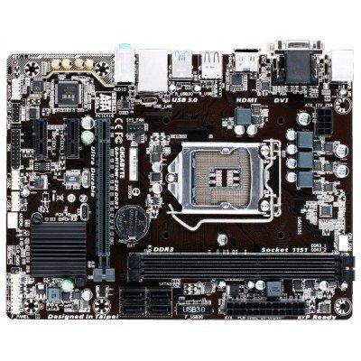 Материнская плата ПК Gigabyte GA-H110M-S2H DDR3 (GA-H110M-S2H DDR3)Материнские платы ПК Gigabyte<br>Gigabyte GA-H110M-S2H DDR3 (Socket 1151, intel H110, 2*DDR3, VGA, DVI, HDMI, PCI-Ex16, Gb Lan, Audio, USB 3.0, SATA 3.0, mATX)<br>