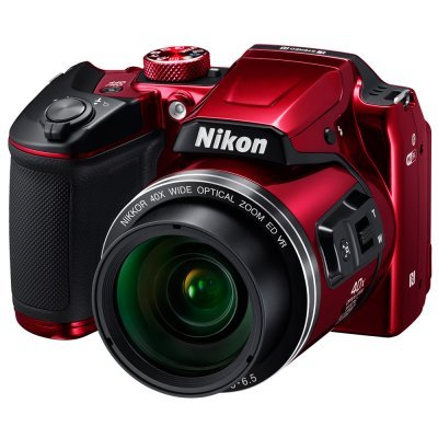 Цифровая фотокамера Nikon Coolpix B500 красный (VNA953E1) профессиональная цифровая slr камера nikon d3200 18 55mmvr