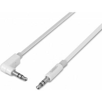 Кабель аудио 3,5 мм Belkin 3.5 мм Jack (m-m) 1.0 м , белый (AV10139YW1M-APL) кабель соединительный 3 0м vention 3 5 jack m 3 5 jack m плоский vab a08 s300