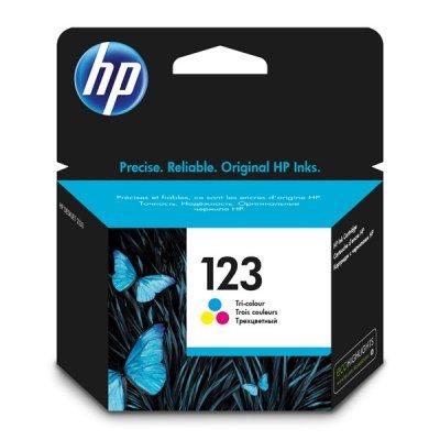 Картридж для струйных аппаратов HP F6V16AE Tri-colour (F6V16AE)Картриджи для струйных аппаратов HP<br>Картридж HP F6V16AE для МФУ HP DeskJet 2130 All-in-One (K7N77C).  Трёхцветный. 100 страниц. (HP 123)<br>