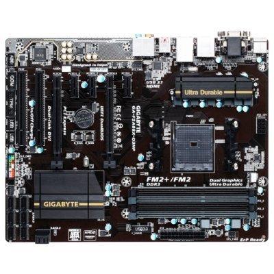 Материнская плата ПК Gigabyte GA-F2A88X-D3HP (GA-F2A88X-D3HP)Материнские платы ПК Gigabyte<br>Материнская плата Gigabyte GA-F2A88X-D3HP Soc-FM2+ AMD A88X 4xDDR3 ATX AC`97 8ch(7.1) GbLAN RAID RAID1 RAID5 RAID10+VGA+DVI+HDMI<br>