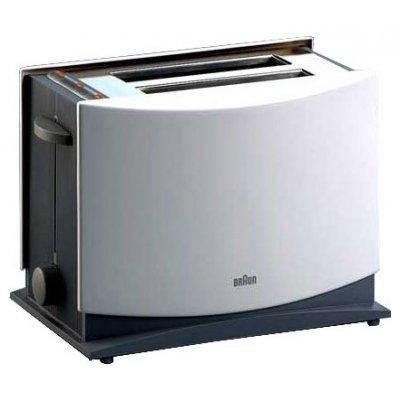 Тостер Braun HT 400 белый (HT 400 (бел))Тостеры Braun<br>тостер<br>на 4 тоста<br>мощность 1080 Вт<br>функция размораживания<br>