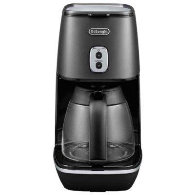 Кофеварка Delonghi ICMI 211 BK (ICMI 211 BK)Кофеварки Delonghi<br>капельная кофеварка<br>отключение при неиспользовании<br>постоянный фильтр<br>корпус из пластика<br>