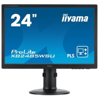 Монитор IIYAMA 24,1 XB2485WSU-B3 (XB2485WSU-B3)Мониторы IIYAMA<br>Монитор LCD 24,1   16:10 1920х1200 IPS, nonGLARE, 300cd/m2, H178°/V178°, 5М:1, 5ms, VGA, DVI, DP, USB-Hub, Height adj., Pivot, Tilt, 3Y, Black, PL2485W<br>