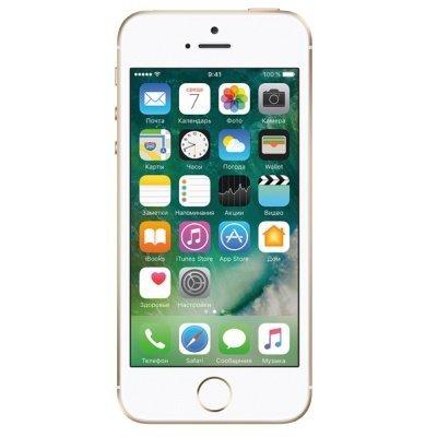 Смартфон Apple iPhone SE 16 Gb золотой (MLXM2RU/A)Смартфоны Apple<br>дисплей 4, процессор A9 (два ядра Twister, 1.85 ГГц), камера 12 МП, запись видео в 4К, 16 Гб встроенной памяти, аккумулятор 1642 мАч<br>