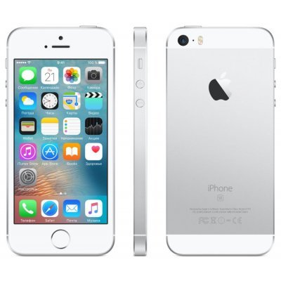 Смартфон Apple iPhone SE 16 Gb серебристый (MLLP2RU/A)Смартфоны Apple<br>дисплей 4, процессор A9 (два ядра Twister, 1.85 ГГц), камера 12 МП, запись видео в 4К, 16 Гб встроенной памяти, аккумулятор 1642 мАч<br>