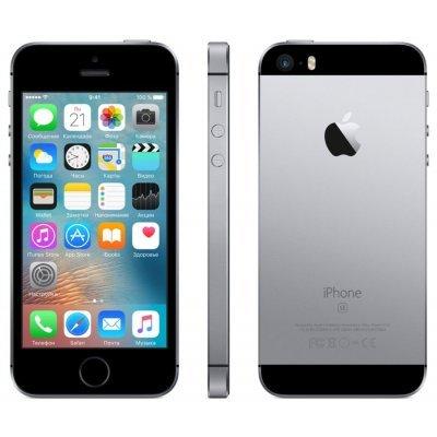 Смартфон Apple iPhone SE 16 Gb серый космос (MLLN2RU/A)Смартфоны Apple<br>дисплей 4, процессор A9 (два ядра Twister, 1.85 ГГц), камера 12 МП, запись видео в 4К, 16 Гб встроенной памяти, аккумулятор 1642 мАч<br>