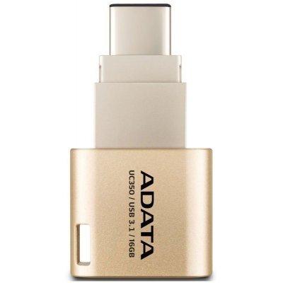 USB накопитель A-Data AUC350-16G-CGD (AUC350-16G-CGD)USB накопители A-Data<br>Флеш накопитель 16GB A-DATA Choice UC350, USB3.1/Type-C, Золотой<br>