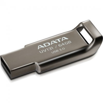 USB накопитель A-Data AUV131-64G-RGY (AUV131-64G-RGY)USB накопители A-Data<br>Флеш накопитель 64GB A-DATA UV131, USB 3.0, Металл<br>