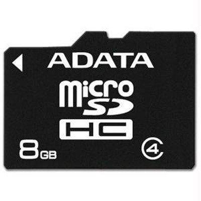 Карта памяти A-Data 8GB microSDHC Class 4 (AUSDH8GCL4-R)Карты памяти A-Data<br>Флеш карта microSD 8GB A-DATA microSDHC Class 4<br>