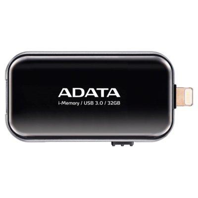USB накопитель A-Data AUE710-32G-CBK (AUE710-32G-CBK)USB накопители A-Data<br>Флеш накопитель 32GB A-DATA i-Memory Elite UE710, USB 3.0/Lightning, Черный<br>