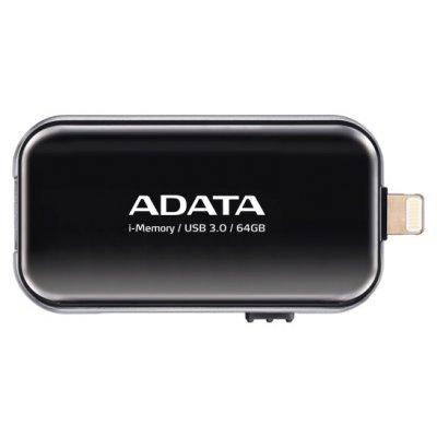 USB накопитель A-Data AUE710-64G-CBK (AUE710-64G-CBK)USB накопители A-Data<br>Флеш накопитель 64GB A-DATA i-Memory Elite UE710, USB 3.0/Lightning, Черный<br>