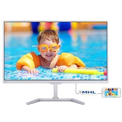 Монитор Philips 24 246E7QDSW (246E7QDSW/00(01))Мониторы Philips<br>МОНИТОР 23.6 PHILIPS 246E7QDSW/00(01) WHITE (PLS, LED, 1920x1080, 5 ms, 178°/178°, 250 cd/m, 20M:1, +DVI, +HDMI-MHL)<br>