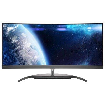 Монитор Philips 34 BDM3490UC (BDM3490UC/00)Мониторы Philips<br>МОНИТОР 34 PHILIPS BDM3490UC/00 Silver-Black (AH-IPS, изогнутый, UWQHD, 3440x1440, 5(14) ms, 172°/178°, 300 cd/m, 50M:1, +DisplayPort, +HDMI 2.0, +2xHDMI, +4xUSB 3.0 port, +2x7W DTS Sound)<br>