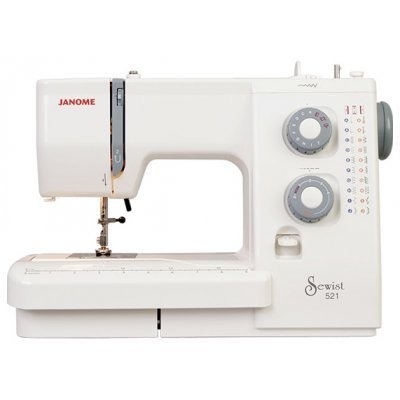 Швейная машина Janome 521 белый (Janome 521 белый) швейная машина janome dresscode белый