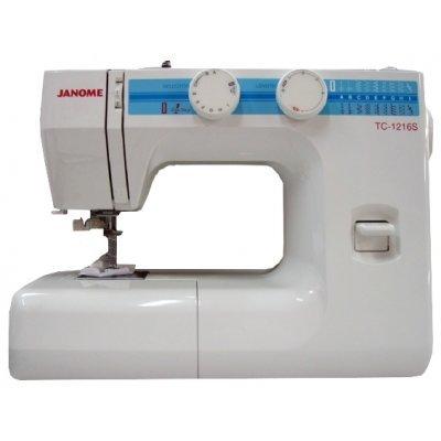 Швейная машина Janome TC-1216S белый (TC-1216S) швейная машина janome dresscode белый