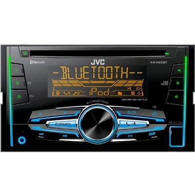 Автомагнитола JVC KW-R920BT (KW-R920BT)Автомагнитолы JVC<br>2 DIN, Bluetooth,FLAC, CD, USB ресивер, c 3-х зонной Изменяемой подсветкой и поддержкой IPod\IPhone, Таймер на включение радиопрограммы однократно, ежедневно или еженедельно, Тюнер HS-IVi с расширенным УКВ диапазоном (65-74, 87,5-108 МГц) и диапазонами AM (СВ 531-1620 кГц, ДВ 153-279 кГц), Совместим ...<br>