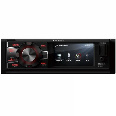 Автомагнитола Pioneer MVH-580AV (MVH-580AV) автомагнитола pioneer mvh 280fd usb mp3 cd fm 1din 4x100вт черный