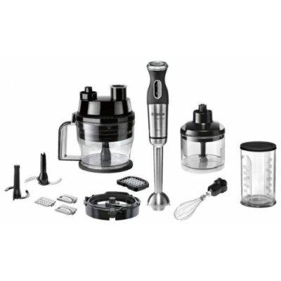Блендер Bosch MSM881X1 (MSM881X1)Блендеры Bosch<br>погружной блендер<br>мощность 800 Вт<br>измельчитель<br>мерный стакан<br>мельничка<br>металлический корпус<br>плавная регулировка скорости<br>