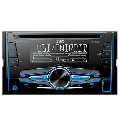 Автомагнитола JVC KW-R520 (KW-R520) автомагнитола kenwood kdc 300uv usb mp3 cd fm rds 1din 4х50вт черный