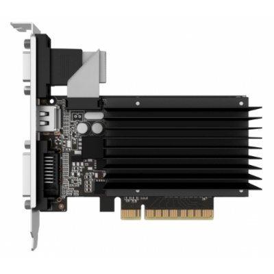 Видеокарта ПК Palit GeForce GT 710 954Mhz PCI-E 2.0 1024Mb 1600Mhz 64 bit DVI HDMI HDCP Silent (NEAT7100HD06-2080H) видеокарта asus geforce gtx 1060 1620mhz pci e 3 0 6144mb 8208mhz 192 bit dvi hdmi hdcp rog strix gtx1060 o6g gaming