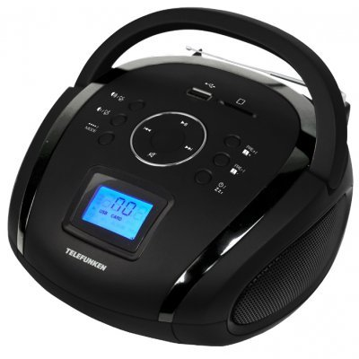 Аудиомагнитола Telefunken TF-SRP3449 (TF-SRP3449(ЧЕРНЫЙ))Аудиомагнитолы Telefunken<br>портативный флэш-плеер<br>однополосная акустика<br>мощность звука 3 Вт<br>поддержка MP3<br>тюнер FM<br>линейный вход<br>воспроизведение с USB<br>воспроизведение с карт памяти SD<br>
