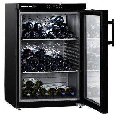 Винный шкаф Liebherr WKb 1812 (WKb 1812-21 001)Винные шкафы Liebherr<br>Винный шкаф LIEBHERR/ 88.9x60.5x60, температурный,  68 бутылок<br>