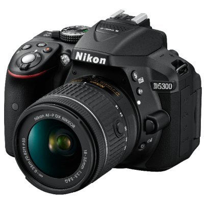 Цифровая фотокамера Nikon D5300 Kit AF-P DX 18-55mm VR Black (VBA370K007)