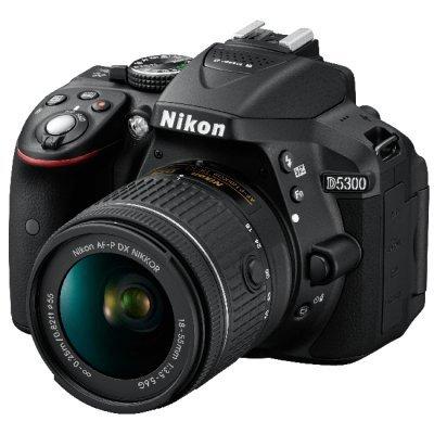 Цифровая фотокамера Nikon D5300 Kit AF-P DX 18-55mm VR Black (VBA370K007) nikon d3400 kit 18 105 vr vba490k003 цифровой зеркальный фотоаппарат black