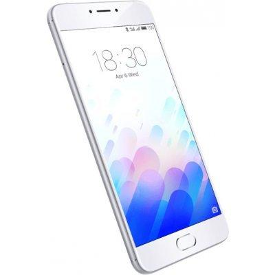Смартфон Meizu M3 Note 2Ram 16Gb серебристый/белый (L681H-16-SW)Смартфоны Meizu<br>Смартфон Meizu M3 Note DS 5,5(1920x1080) LTE Cam(13/5) MT6755 1,8ГГц(8) (2/16)Гб microSD 128Гб A5.1 4100мАч Серебристый/Белый MZU-M681H-16-SW<br>