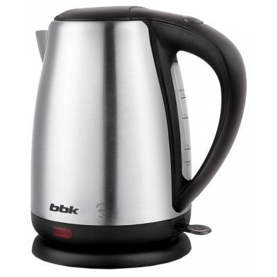 Электрический чайник BBK EK1706S нержавеющая сталь/черный (EK1706S нерж/ч)Электрические чайники BBK<br>чайник<br>объем 1.7 л<br>мощность 2200 Вт<br>закрытая спираль<br>установка на подставку в любом положении<br>стальной корпус<br>индикация включения<br>