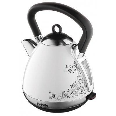 Электрический чайник BBK EK1710S белый/черный (EK1710S бел/чер)Электрические чайники BBK<br>чайник<br>объем 1.7 л<br>мощность 2400 Вт<br>закрытая спираль<br>установка на подставку в любом положении<br>стальной корпус<br>