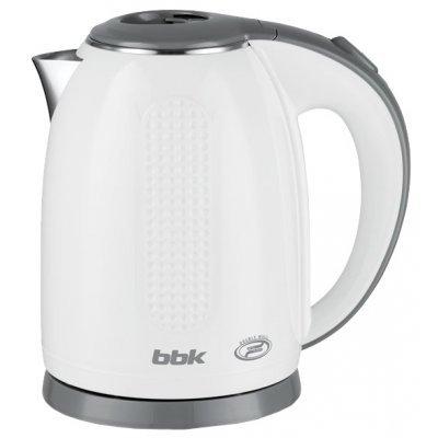 Электрический чайник BBK EK1735P белый/серебро (EK1735P бел/сер)Электрические чайники BBK<br>чайник<br>объем 1.7 л<br>мощность 2200 Вт<br>закрытая спираль<br>установка на подставку в любом положении<br>корпус из стали и пластика<br>ненагревающийся корпус<br>