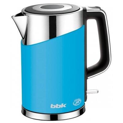 Электрический чайник BBK EK1750P голубой (EK1750P голубой)Электрические чайники BBK<br>чайник объем 1.7 л мощность 2200 Вт закрытая спираль установка на подставку в любом положении корпус из стали и пластика ненагревающийся корпус<br>