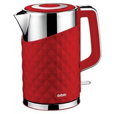 Электрический чайник BBK EK1750P красный (EK1750P красный)Электрические чайники BBK<br>чайник объем 1.7 л мощность 2200 Вт закрытая спираль установка на подставку в любом положении корпус из стали и пластика ненагревающийся корпус<br>