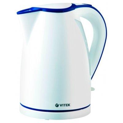 Электрический чайник Vitek VT-1107 (VT-1107 (W))Электрические чайники Vitek<br>чайник<br>объем 1.7 л<br>мощность 2200 Вт<br>закрытая спираль<br>установка на подставку в любом положении<br>пластиковый корпус<br>